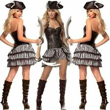 New Sexy Pirate Women Halloween Cosplay Female Fancy Dress Party Costume