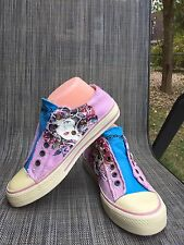 Ed Hardy Women's Multi Color Canvas Sport Shoes sz.7