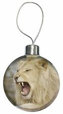 Roaring White Lion Christmas Tree Bauble Decoration Gift, AT-43CB