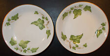 Royal Jackson China Springtime Smooth 2 Fruit Sauce Dessert Bowls Ivy Gold 4a3f
