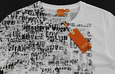 Men's HUGO BOSS ORANGE White Black Pinup Girl T-Shirt Tee Shirt Large L NWT NEW