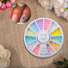 Easter 3D Nail Art Decoration Pearls Spangles Rhinestones Candy Colour Wheel