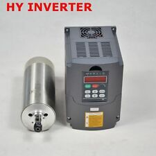 1.5KW 80MM  WATER COOLED CNC SPINDLE MOTOR ER11&1.5KW VFD INVERTER  DRIVE 220V