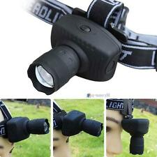 CREE 1000LM LED Headlamp Flashlight Zoomable Headlight Torch Bike Riding Lamp UP