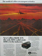 9/1977 PUB ROCKWELL COLLINS 860E SOLID STATE DME AIR TRANSPORT AVIONICS AD