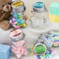 40 Personalized Glass Teddy Bear Treat Jars Baby Shower Party Gift Favors