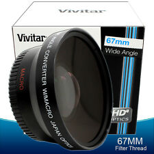 Vivitar Fisheye Wide Angle Lens for Nikon D5100 D5200 D5300 D3200 D3300 - 67mm