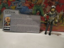 G I Joe ARAH vintage Slip-Stream COMPLETE Filecard 1980s #1