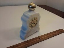 Vintage Avon Clock Bottle Charisma Cologne grandfather white antique old perfume