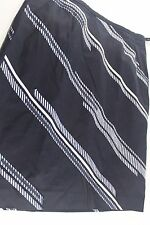 ANN TAYLOR 8 Stretch Cotton PENCI SKIRT Navy BLUE Striped Ribbon Trim Lined
