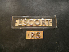 Genuine FORD ESCORT COSWORTH RS tailgate badges brand new & unused £20 0nly!!