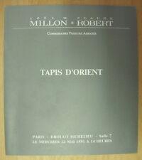 CATALOGUE DE VENTE ART DROUOT RICHELIEU TAPIS D ORIENT 22 MAI 1991