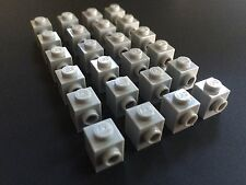 Lego New Lot Of 24 1x1 Light Grey Gray Brick Modified With 1 Knob Studs On Side