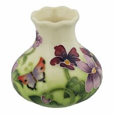 "Old Tupton Ware Art Deco ""Primrose and Butterfly"" Design 3"" Vase"