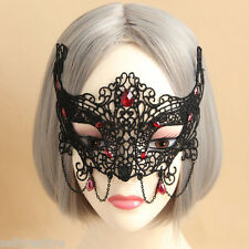 Womens Sexy Gothic Lace Face Eye MASK Fancy Dress Party Mardi Gras & Bobby Pins