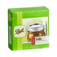 Lot of 432 Ball 1440032000 Regular Mouth Canning Jar Lids 36 Boxes of 12 Lids