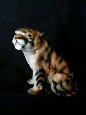 Vintage soviet Lomonosov lfz ЛФЗ porcelain tiger figurine