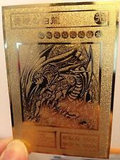 Yugioh BLUE-EYES WHITE DRAGON Custom Metal Card Limited Collection Golden cards