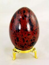 BUTW Mahogany Obsidian 70mm x 48mm Egg With Stand Lapidary Healing Stone 9094K