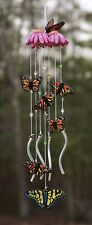 Evergreen Wind Chime Whimsical Butterfly 19 in L Metal Wind Noisemaker, New