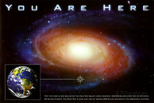 Classic You Are Here Galaxy Space Science Poster Print Poster Print, 36x24