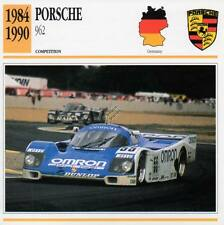 1984-1990 PORSCHE 962 Racing Classic Car Photo/Info Maxi Card
