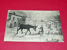 CPA CARTE POSTALE 1918 LEGENDE DE SAINT-SAULGE ANE QUI BOIT LA LUNE / NIVERNAIS