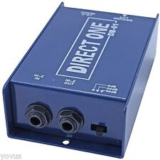 DB-01 Passive Direct Box di with ground lift & pad guitar keyboard XLR to 1/4
