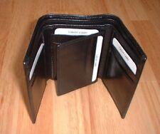 Black Tri-fold Genuine Leather Wallet #902
