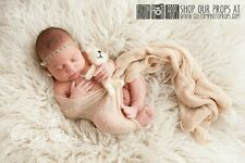 Eggnog Tan Nubble Stretch Wrap Newborn Photo Props,Photography Props, Baby Props