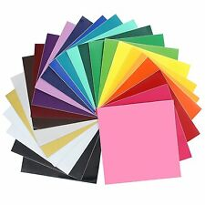 "Oracal 651 Gloss Vinyl - 12"" x 12"" for silhouette, cricut. 24 Pack of Top Colors"