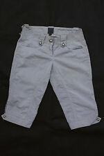 CK CALVIN KLEIN LADIES SPORT GREY DENIM JEANS SHORTS FIT Sz 40 Uk10