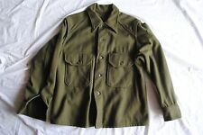 HEAVY wool field shirt jacket khaki olive military US Army flannel soft thick
