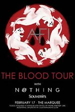 "AFI / NOTHING / SOUVENIRS ""BLOOD TOUR"" 2017 PHOENIX CONCERT POSTER-Alt/Punk Rock"