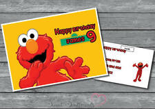 Personalised Elmo Sesame Steet  Birthday Card A5 Large Your Name And Age