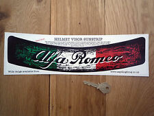 ALFA ROMEO Worn Distressed HELMET VISOR SUNSTRIP Sticker Race Rally Car Racing