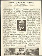 46 FIGEAC JOYAU DU BAS-QUERCY ARTICLE DE PRESSE PAR JOSEPH LOUBET 1934