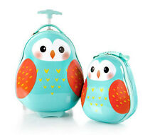 Heys America Luggage Travel Tots Kids 2 Piece Luggage & Backpack Set - Owl