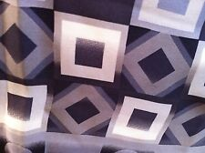 COCCINELLE PURE SILK LONG SCARF GEOMETRIC PRINT GREYS/BLACK/WHITE MINT CONDITION