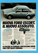 QUATTROR980-PUBBLICITA'/ADVERTISING-1980- FORD ESCORT