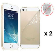 4 Pcs = 2 x (Front+Back) Anti-Glare Matte Screen Protector Film For iPhone 5 5S