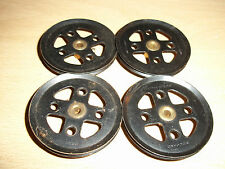Meccano Part 20a Pulley BLACK Pack of 4
