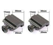 Pair 20mm Dovetail to 11mm Picatinny Weaver Rail to Dovetail Scope Mount Adapter