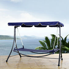 Outsunny Patio Swing Hammock Bed Hanging Sleeping Daybed w/ Canopy Pillow Double
