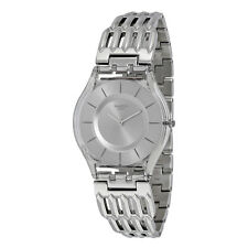 Swatch Furious Grey Dial Stainless Steel Quartz Ladies Watch SFK396G
