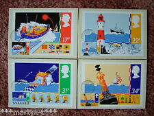 PHQ Stamp cards FDI Front No 84 Safety at Sea 1985. 4 card set Mint Condition