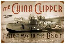 Lockheed China Clipper Orient Military Aircraft Metal Sign Man Cave Garage LM004