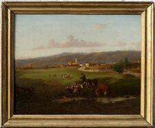 Un Berger sur son Ane, 1870, Italie, Toscane, Superbe!