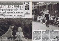 Coupure de presse Clipping 1981 Cathy Lee Crosby  (8 pages)