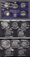 2000-P, D & S CLAD STATE QUARTER  YEAR SET  ( 15 COINS )
